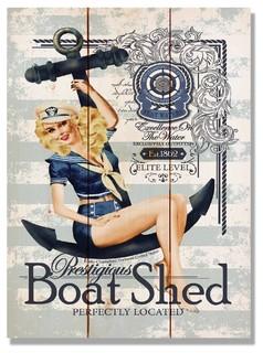 Prestigious Boat Shed Indoor/Outdoor Full Color Cedar Wall Art 11x15