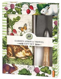Garden Bunny Garden Apron and Trowel Gift Set