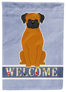 Fawn Boxer Welcome Flag Canvas House Size