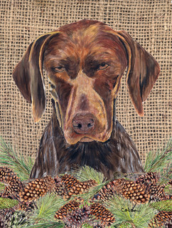 German Shorthaired Pointer Flag Canvas House Size