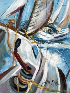 Pain Killer Sailboat Race Flag Canvas House Size