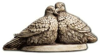 Lovebirds Cast Stone Garden Statue