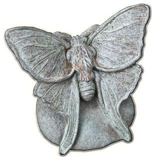 Lunar Moth Cast Stone Garden Statue