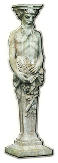 Tall Satyr Cast Stone Garden Statue