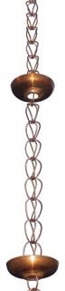 Monach Pure Copper Kioshi Rain Chain 8.5' With Installation Hanger