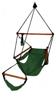 Hammaka Outdoor Hanging Hammock Air Chair Wooden Dowels Hunter Green
