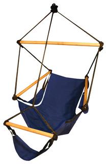 Hammaka Outdoor Patio Cradle Swing Hanging Hammock Air Chair Midnight Blue