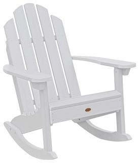 Classic Westport Adirondack Rocking Chair White