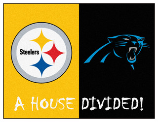 """NFL Steelers Panthers House Divided Rug 33.75""""x42.5"""""""