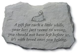 """""""A Gift For Such A Little"""" With Lamb Memorial Garden Stone"""
