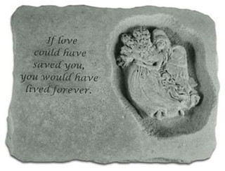 """If Love Could Have Saved You With Angel"" Memorial Garden Stone"