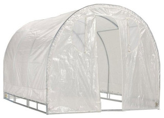 Polytunnel Hoop House Style Greenhouse 8'x8'