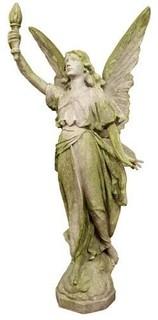 Angel Of Light Right 45 Garden Angel Statue