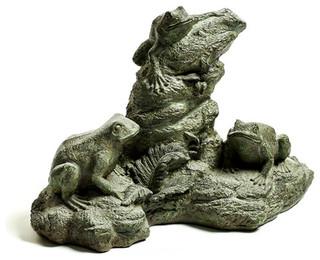 Frog Trio Garden Animal Statue